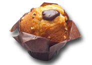 Muffin vainilla chocolate y avellana
